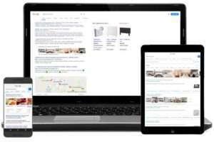 Tipos y distribución de los resultados en google