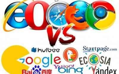 Ejemplos y diferencias entre buscadores y navegadores