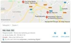 resultados locales de google place