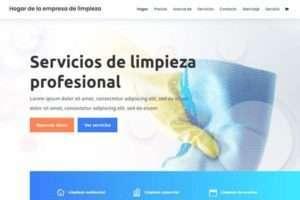 Ejemplo de página web de empresas de limpieza