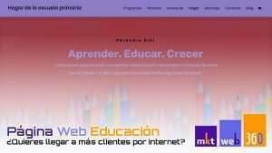 Diseño página web para academias