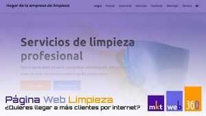 Diseño página web para empresas de limpieza