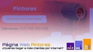 Diseño página web para empresas de pintores
